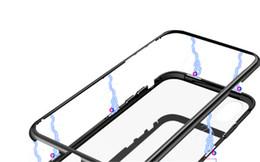 Estuche rígido de metal de adsorción con imán magnético 360 para iPhone X 8 Plus 7 6 6S + cubierta posterior de vidrio desde fabricantes