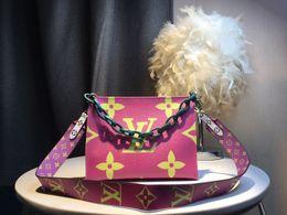 Deutschland Europäische und amerikanische Mode Damen Umhängetasche geneigte Umhängetasche MS Kette Tasche waschen Gurgeln Handtasche 67691 Versorgung