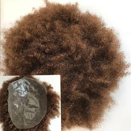 Perruques de peau mince en Ligne-Mince Pu Toupet Pour Hommes Système de Remplacement Pleine Toupet Pour Hommes Système De Remplacement