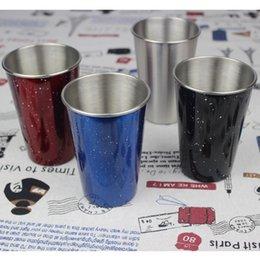 piccoli occhiali da caffè Sconti Bicchieri da vino portatili in acciaio inossidabile monostabile da esterno / tazza da birra