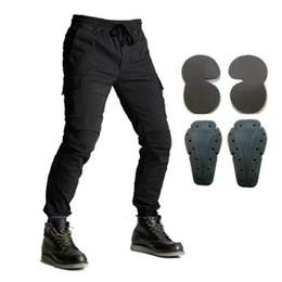 Pantalones vaqueros para montar en motocicleta con armadura para hombres Pantalones vaqueros de mezclilla Pantalones de carga Pantalón de haz de carreras de motocross desde fabricantes