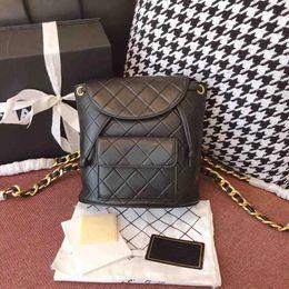 Argentina Mujeres de la moda caliente mini diseñador de la mochila cadena de oro a cuadros mochila doble bolsa de hombro de la mejor calidad estudiantes lindos mochilas niñas mochila Suministro