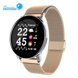 частота сердечных сокращений Скидка W8 Женщины Смарт Часы IP67 Браслет водонепроницаемый Heart Rate погоды SmartWatch для Samsung Huawei Watch PK Активный Гир Watch
