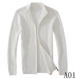 Lista de modelos on-line-Moda camisola ocasional dos homens novos quente de malha grossa suéter de Slim pulôver de alta qualidade dos homens nova listagem 6889 modelos M-2XL branco, g