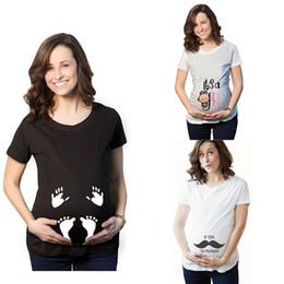t-shirt imprimé enceinte Promotion Enceinte T-shirts de maternité T-shirts 2019 Mode Été Vêtements pour femme Lettres Imprimé géométrique Hauts 24 couleurs C5872