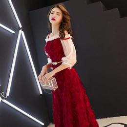 Canada Bourgogne élégante Asiatique Longue Robe Robes Chinos Oriental Qipao Robes De Soirée Classique Robe De Soirée Taille XS-XXL supplier classic elegant evening gowns Offre