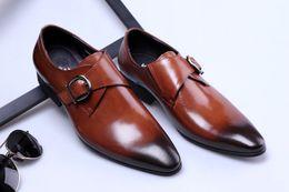 9b622d2e24 designer monk strap formal shoes men oxford shoes italian brand men dress  shoes calzado hombre erkek ayakkabi sapato masculino brown monk strap shoes  deals