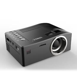 2019 levou mini projetor de bolso Hot Vendedor Unic UC18 Mini Projector Original LED portátil de bolso Projetores Multi-Media Player Home Theater jogo suporta HDMI USB desconto levou mini projetor de bolso