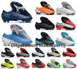 Scarpe da calcio di vapori online-2019 nuovi uomini Mercurial vapori XIII Elite FG 13 MDS 001 CR7 Ronaldo Neymar NJR 360 Sogno Velocità di calcio di gioco del calcio calza il formato 39-45