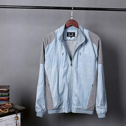 vestuário estilos coreia homens Desconto Homens primavera e outono marca de moda coréia estilo patchwork de linho fino jaqueta masculina casual gola plus size jaqueta roupas