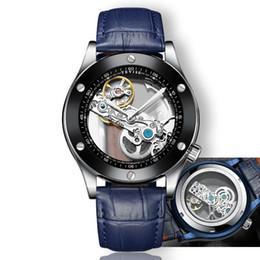 2cef789c6a08d TEVISE montre homme Transparent Automatique Montre Hommes Montres Mécaniques  2018 Mode Lumineux Étanche En Cuir Montre-Bracelet Horloge promotion  regarder ...