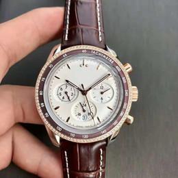 Giorno pvd online-Nuovo Mens Swiss Watch 9100 della data di sostegno giornata meccanico automatico occhio cristallo di zaffiro PVD placcatura in oro rosa 316L Acciaio Super Resistente all'acqua