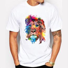 b96209325 2019 animal print estampado de camisetas Camisetas para hombre Nuevo 2019  Verano Moda Animal León Impresión