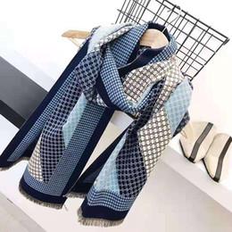 Cachecóis de bandana grande on-line-2020 Cashmere Lenços por Mulheres comprida xadrez Cabeça Hijab Cachecóis para senhoras com xailes Marca 90 * 180 Bandana Grande lenço