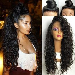 Perruques ondulées en Ligne-cheveux humains en dentelle transparente pleine perruques ondulées bouclés avant plumé transparent en dentelle pleine perruque, brésilienne de cheveux humains perruque de dentelle 130% petit bonnet aviabl