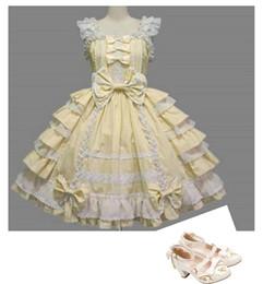 Vestidos cosplay vintage on-line-(DRESS + SHOES) Frete Grátis Daneileen DEL0003 New Sweet Lolita Vestido Lindo Tema Traje Bonito Vestido Cosplay Do Vintage Gótico Vestido