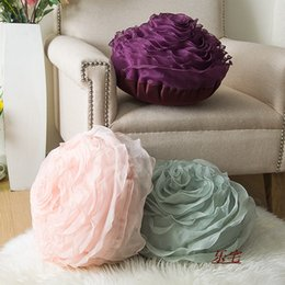 pillow for couple Coupons - Home Decorative 3D Pillow for Sofa Married with Creative Couple Gift PP Cotton Filling Three-dimensional Roses Soft Cushion