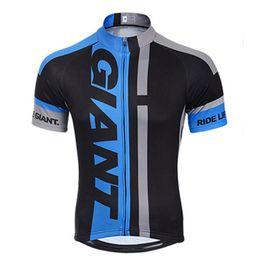 camisetas de bicicleta gigante Rebajas 2019 Tour de France GIANT Ciclismo Jersey bicicleta Use camisa Manga corta Ciclismo Ropa verano Anti UV MTB Bike maillot ropa ciclismo
