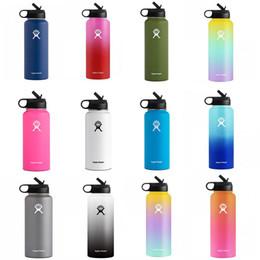 2019 botellas de agua directas deportivas Acero inoxidable Copa de aislamiento de moda del color del gradiente espacial Pot portátil al aire libre Deportes de la Copa de la nave de DHL