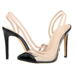chocolates solteiros Desconto Sexy2019 Maré vai sapatos verão Loslandifen fino legal boate feminino solteiros sapato