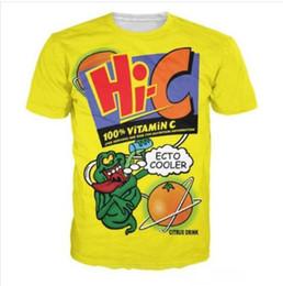 Canada Nouveau mode hommes / femmes Ecto Cooler Orange T-shirt de boissons citronnées Style été drôle drôle unisexe impression 3D T-shirt Casual Tops Plus Size DX03 Offre