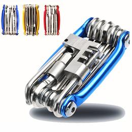Ferramentas de bicicleta Reparação Set 15 em 1 bicicleta Repair Tool Kit chave de fenda chave de cadeia de carbono de bicicletas de aço Multifuncional Ferramenta de