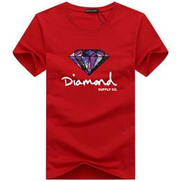 красный перец для оптовой продажи Скидка Мода футболка с бриллиантом мужчины женщины одеть 2019 Повседневная футболка с коротким рукавом мужчины Марка дизайнер Летние футболки