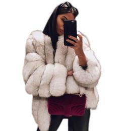 Abrigos peludos online-Abrigos de piel sintética de moda para mujer Chaquetas de invierno suaves y cálidas de invierno Tallas grandes Cárdigans de punto abierto Abrigo Abrigo Outwear