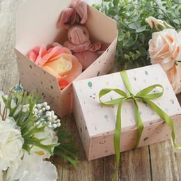 2019 bougies pot de noël Design Pink Forêt de 15 * 10 * 9 cm Boîte de papier bonbons Cookie Jar Bougie Mariage Noël bricolage Emballage cadeau bougies pot de noël pas cher