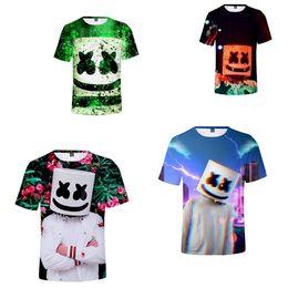 e704449d631 Dj Marshmello T Shirts For Kids Boys Girls 3D Print Tshirt Summer  Marshmellow Fashion Children Kids Tops Clothes 3-12Y TC190328 100pcs