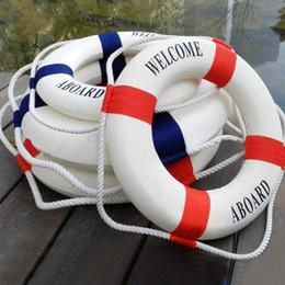 segni di vita Sconti NOVITÀ Outdoor Welcome Aboard Sign Nautical Boat Galleggiante Salvagente Salvagente Salvagente