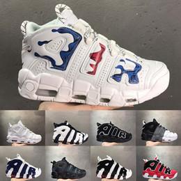 zapatillas pippen Rebajas Nuevo Más Uptempo Hombres Zapatos de baloncesto Zapatos Scottie Pippen Negro Zapatillas rojas Hombre Baloncesto Hombre Zapatillas deportivas