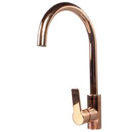 Torneira de cobre on-line-Desenho Torneira Da Cozinha Banheiro Torneira Da Cozinha de Bronze ouro rosa ouro mesa de cobre torneira de água quente e fria