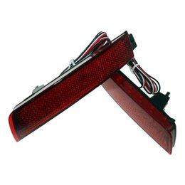 Fendinebbia nissan online-2x LED rosso paraurti posteriore riflettore luce nebbia parcheggio freno posteriore lampada per Nissan Juke Murano Sentra Quest Infiniti FX35 FX37 FX50