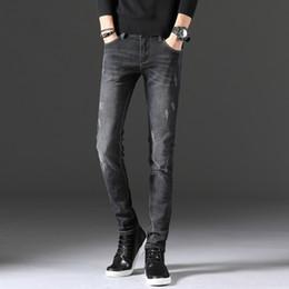 Mann Freizeit Jeans Kanister Erhöhung unten Jugend Hose Joker elastischer Kraft Männer Hosen Slim Fit Denim Jogger Stretch Jeans