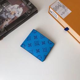 portefeuille en carbone Promotion haut bleu portefeuille poche carte de crédit compartiment hommes de toile de transport et les femmes porte-monnaie concepteur