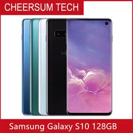 """Samsung 128gb on-line-Recuperado Original desbloqueado Samsung Galaxy S10 G9730 Mobile Phone 6.1"""" 8GB de RAM 128GB ROM Snapdragon 855 Android 9.0 Celular"""