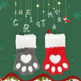 2019 sacos em forma de cão 2019 Natal De Cabelos Longos De Cabra Garra Forma Natal Meias Decoração Crianças Doces Sacos De Presente desconto sacos em forma de cão