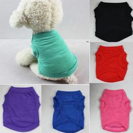 roupa do cão para fêmeas frete grátis Desconto 2019 Pet T-shirts de Verão Sólida Roupa Do Cão Moda Camisas Top Colete De Algodão Roupas Cachorro Cão Pequeno Cão Roupas