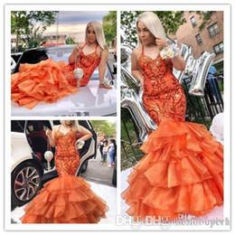 Organza bead vestido de fantasia sirene on-line-2019 vestidos de baile longo halter organza sereia contas de cristal pageant africano árabe dubai formal longo vestidos de festa vestido de noite