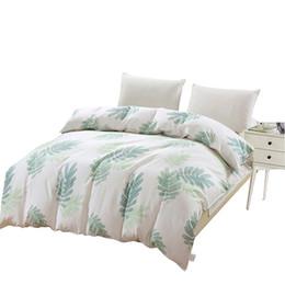 Edredón edredón para niñas online-Cubierta de edredón de árbol simple blanco verde niños de dibujos animados edredones cubierta doble reina tamaño king 100% algodón nueva moda niña ropa de cama