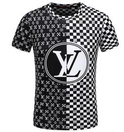 La ricamatrice della maglietta disegni applique online-T-shirt da uomo in cotone con motivo patchwork e ricamo di marca 100% cotone manica corta moda Top Tees Abbigliamento estivo-93