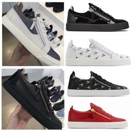 Женские туфли онлайн-Мода дикой бренд Италии Black замша низкие кроссовки для мужчин женщин случайной плоских Толстых подошвы обувь двойной молния