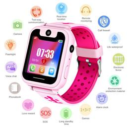 Locator uhren online-LBS Kid Smartwatches Babyuhr heißer Verkauf 2019 Neueste intelligente Uhr für Kinder PAS-Anruf-Standort-Sucher-Verzeichnis-Verfolger Anti-Lost Monitor + Box