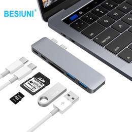 """Canada BESIUNI Type C pour lecteur de carte Adaptateur USB 3.0 pour hub C C 3.0 avec emplacement pour carte SD Pour 13 """"15"""" Nouveau MacBook Pro 2016/2017 Offre"""