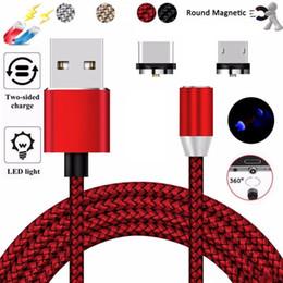 2019 коды освещения Новый быстрая зарядка Магнитный кабель для зарядки Светодиодный 8-контактный Micro USB Type C для всех телефонов i7 Samsung Xiaomi Магнитные зарядные кабели Код дешево коды освещения
