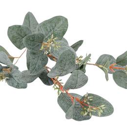 Fake fruit on-line-Bagas Artificiais Eucaliptos Verdes Frutifica Folha De Frutas Falso para Casa Loja de Casamento Decoração Arranjo Floral