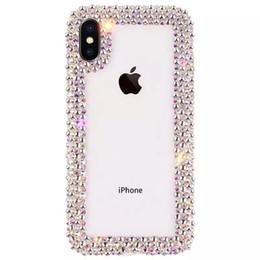 Rhinestone luxuoso do caso do iphone on-line-Luxo diamante designer phone cases capa coque para iphone x xs max xr 6 7 8 plus case claro strass brilhar phone case