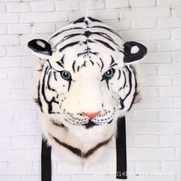 2019 desenhos animados da panda do natal 2017 NOVA Arriival 3D Cabeça Do Tigre Mochila Animais Dos Desenhos Animados Leão panda Mochila De Pelúcia Moda personalidade tendência atenção Natal desenhos animados da panda do natal barato