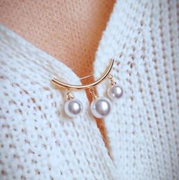 2019 broches de sensibilisation en gros KingDeng Fixe Bretelles Anti Broche Broche Coréenne Simple Broche Accessoires pour femmes Cardigan Anti Épingles Broche Enamel